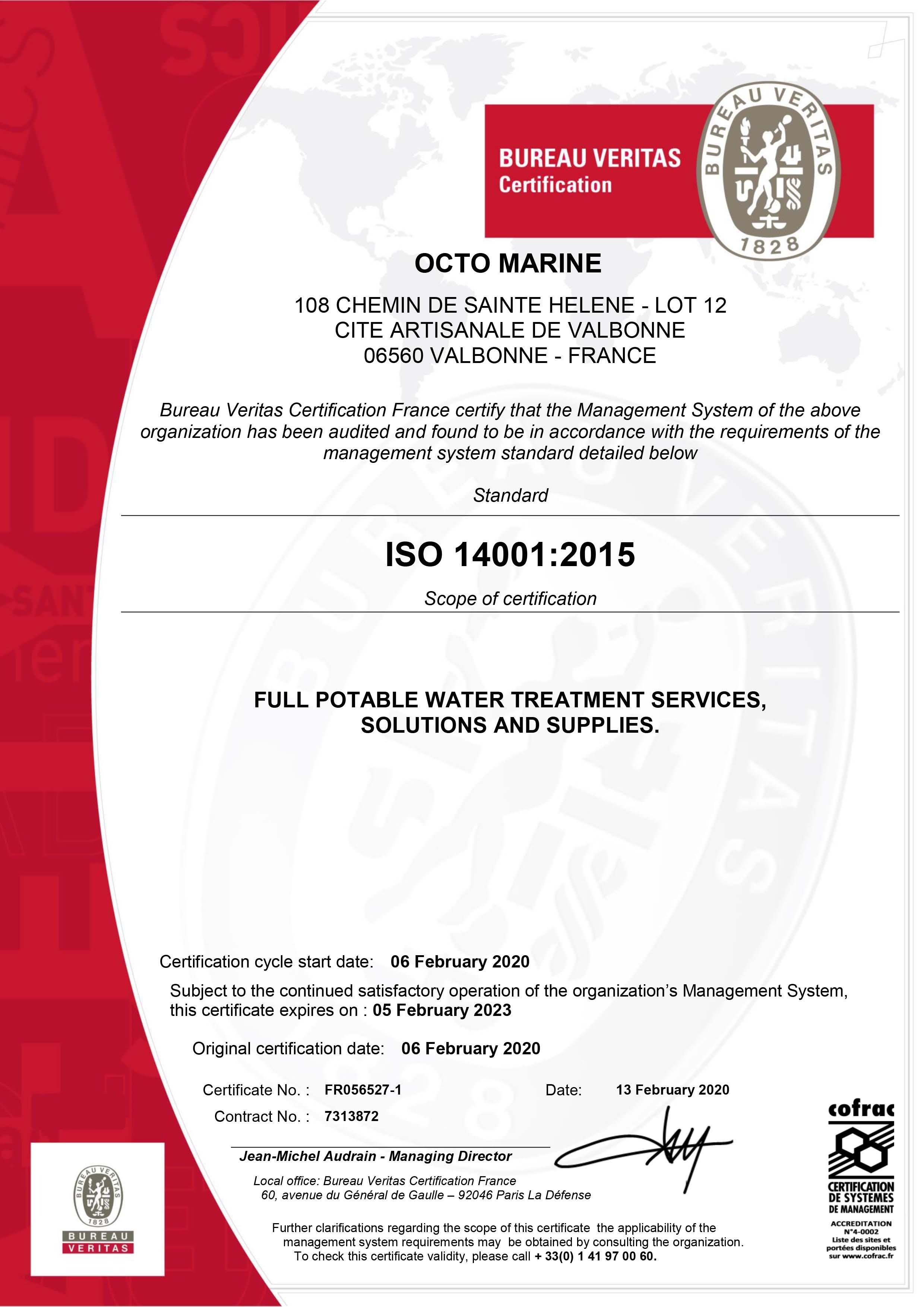 Octo Marine ISO 14001